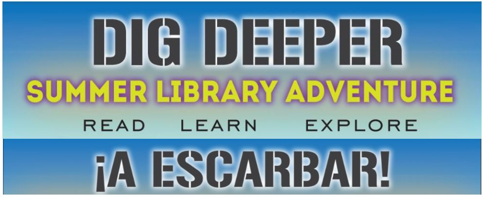 dig deeper summer library adventure read learn explore